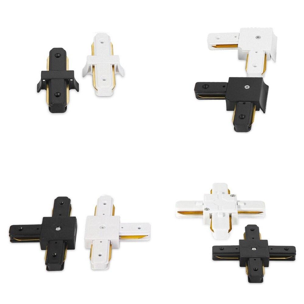 10pcs 트랙 조명 레일 커넥터 스트레이트/l 커넥터 트랙 전등 시스템에 대 한 2 와이어 알루미늄 레일 커넥터