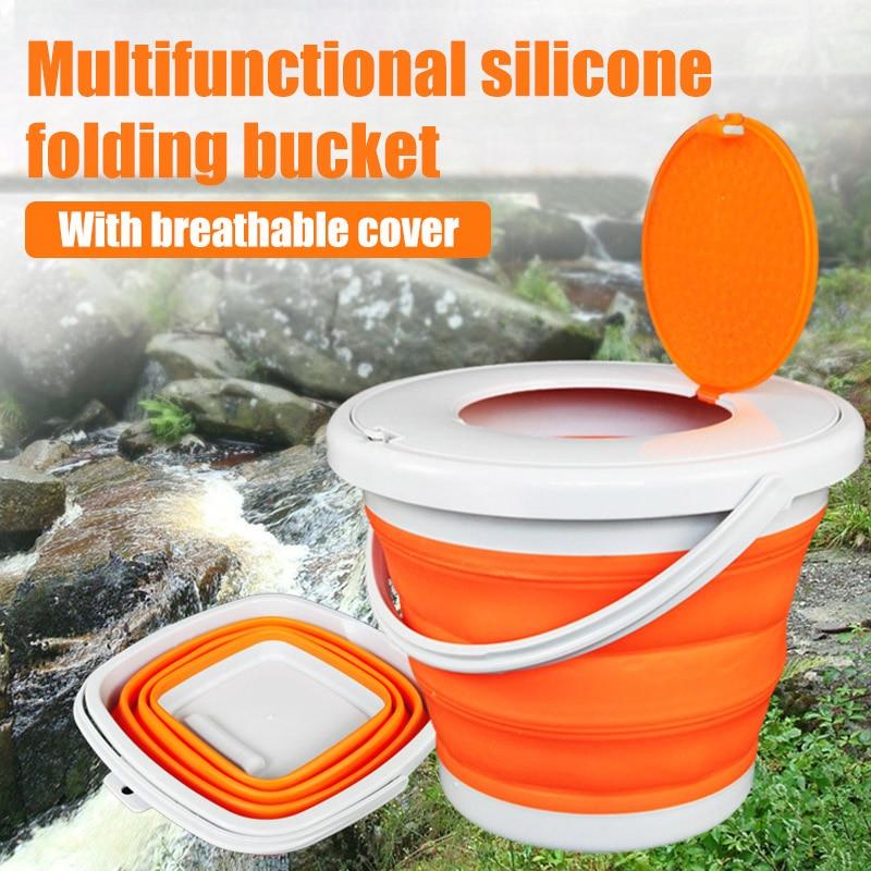 balde de plastico dobravel balde pesca balde portatil ao ar livre viajando bait baldes com tampa