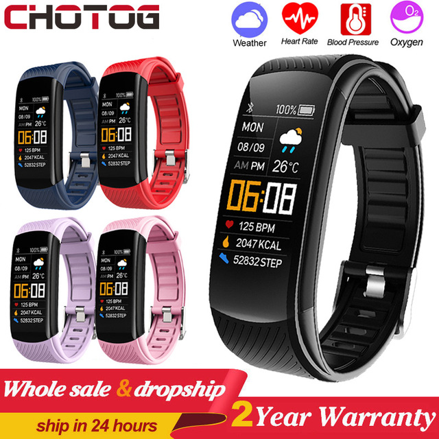 Sport Fitness Bracelet Waterproof  Fitness Tracker Blood Pressure Heart Rate Monitor Smart Band Watch For Android IOS Phone 6