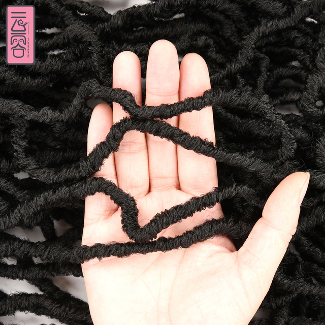 YunRong Nu Locs Crochet Hair 36 24 18 Inches Faux Locs Extension Synthetic Soft Goddess Braiding Dreadlocks Hair For Black Women 6
