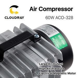 Cloudray 60 Вт воздушный компрессор, Электрический магнитный воздушный насос для CO2 лазерной гравировки, режущая машина, ACO-328