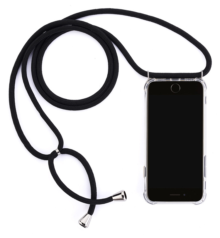 For IPhone 11 Case Necklace Lanyard Shoulder Rope Cord Clear Soft TPU Phone Cover For IPhone XR 11 Pro Max XS MAX X 7 8 6 S Plus