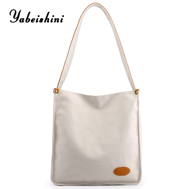 Women Handbags For Women 2019 White Crossbody Bags Canvas Tote High Capacity Shoulder Bags Bolso Mujer Reusable Shopping Bag