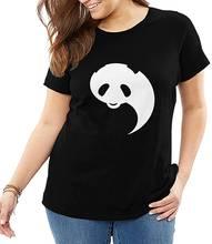 Повседневная Женская футболка с принтом Милая панда дышащая