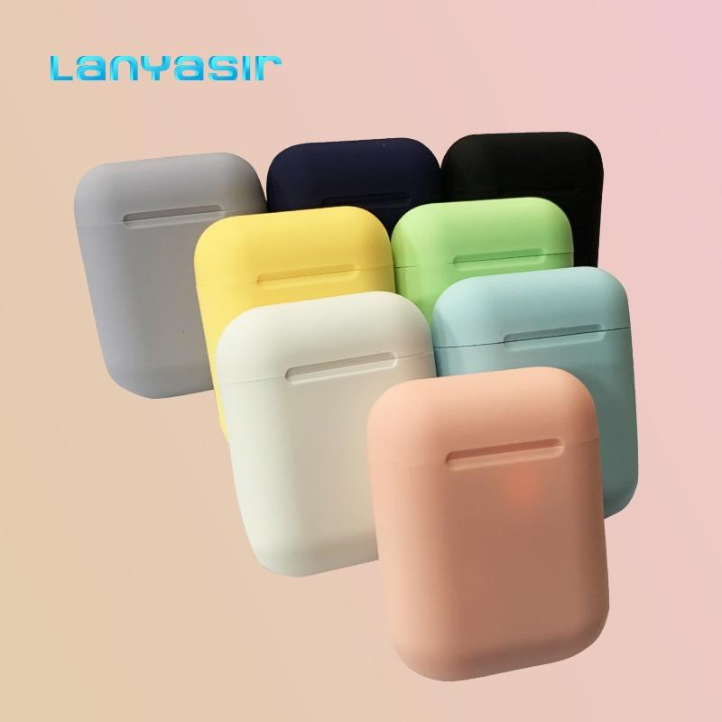 Lanyasir Earphone Macaron 12 5.0 HIFI Wireless Headsets Wireless Bluetooth Earphones For All Smart Phone Earbuds Inpods 12