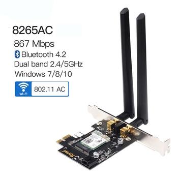 DesktopDual Band 2.4G/5Ghz Wifi Bluetooth Wlan For Intel 8265NGW Wireless-AC 8265 NGFF 802.11ac 867Mbps  MU-MIMO WIFI BT 4.2 цена 2017