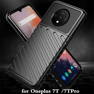 Image 1 - for Oneplus 7T Case 7T Pro Cover TPU for Oneplus7t 7tpro Back Coque One Plus 7 T Shockproof 1+7t MOFi Anti Knock Full Edge