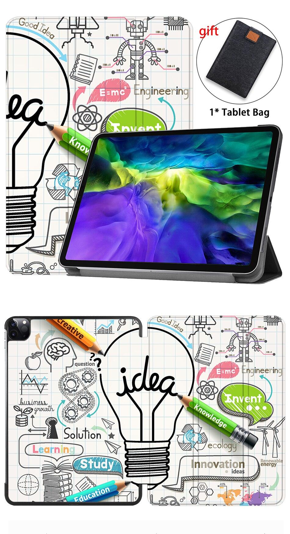 Case A2228 Tri-Fold A2231 PU Leather inch Slim 2020 11 iPad Pro Funda Gen 2nd MTT For