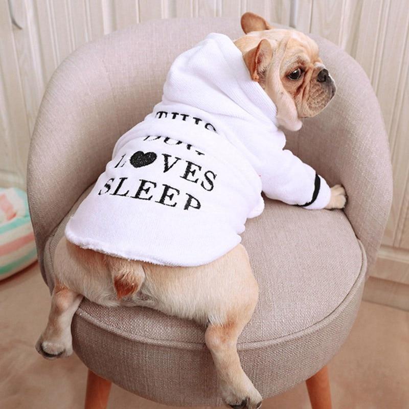 Pet Dog Bathrobe Dog Pajamas Sleeping Clothes Indoor Soft Pet Bath Drying Towel Clothes for Puppy Dog Cats Pet Accessories B#