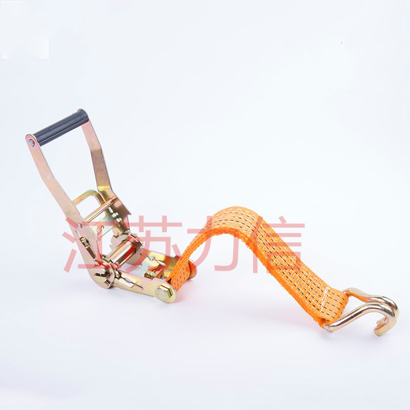 25mm Width 800kg Hooked Ratchet Strap Ratchet Tie Down Cargo Lashing Shipping Package Shipment Belt Load Binder Assembly Sling