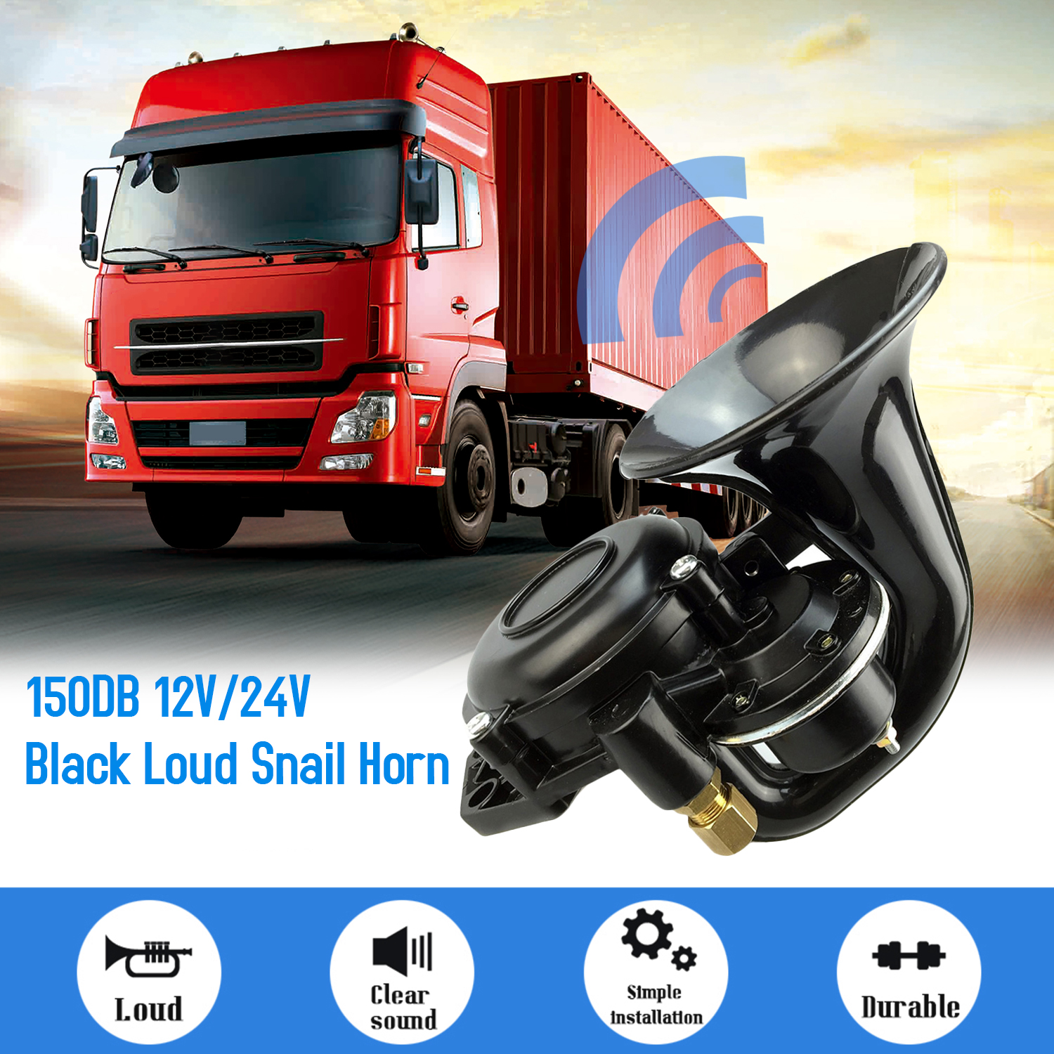 for car boat car horn with compressor truck Audew 120DB 12V air horn