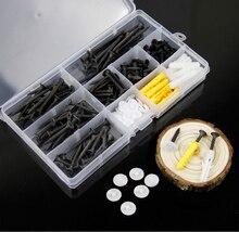 190pcs/set M3.5 Socket Screw Bolt Nut Flat head screws Nuts Assortment Kit Fastener Hardware Wood/ Drywall nailboard