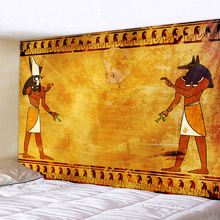 Egyptian Tapestry Wall-Cloth Home-Decoration Retro-Tap Ancient Printing Yellow Old-Culture