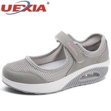 UEXIA Summer Fashion Flat Platform Shoes Woman Hollow Breath