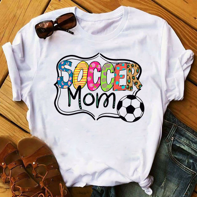 Women 2020 Soccer Mom Cute Game Day Fashion Clothing Lady Womens Top T Shirt T-shirts Ladies Graphic Female Tee T-Shirt