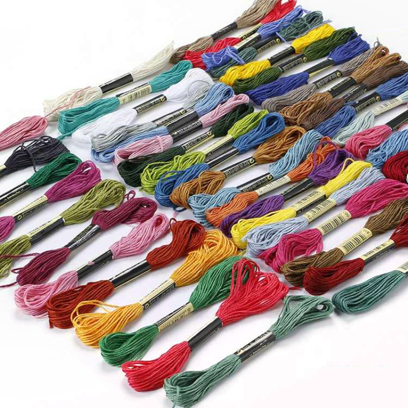 Great Price 50 Art Silk//Rayon Stranded Skeins Embroidery Thread 50 colours