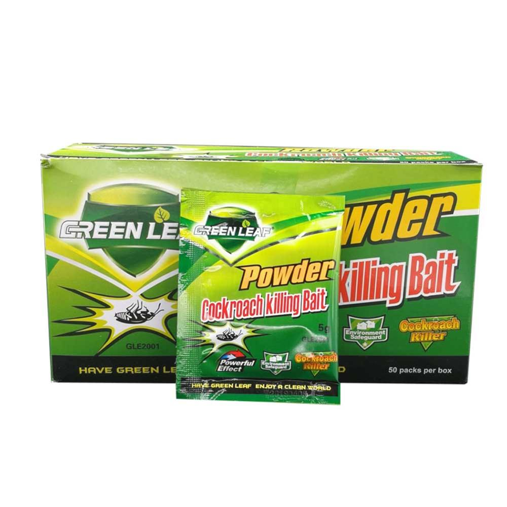 New 10 Packs Green Leaf Powder Cockroach Killer Bait Repeller Killing Trap Pest Control For Kitchen Effective Cockroach Killing