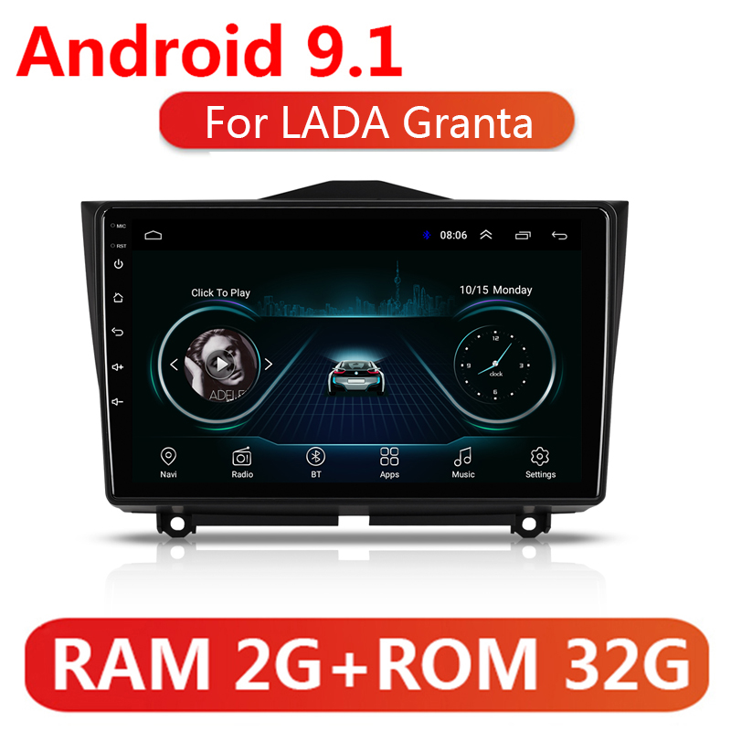 9 Car Multimedia Player For LADA Granta Cross 2018 2019 2 Din Android 9.1 Car Radio Stereo Navigation Autoradio GPS Head Unit image