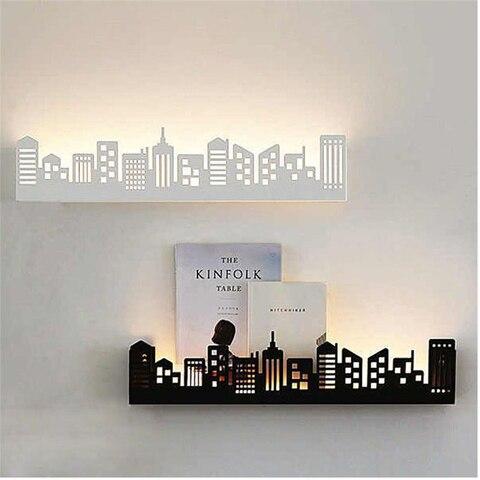 prateleira luminarias sala estar quarto luzes parede