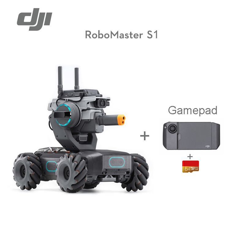 In stock DJI RoboMaster S1 is intelligent educational robot Remote control smart car Toy tank robotics kids gift brand new-in Sports & Action Video Camera from Consumer Electronics