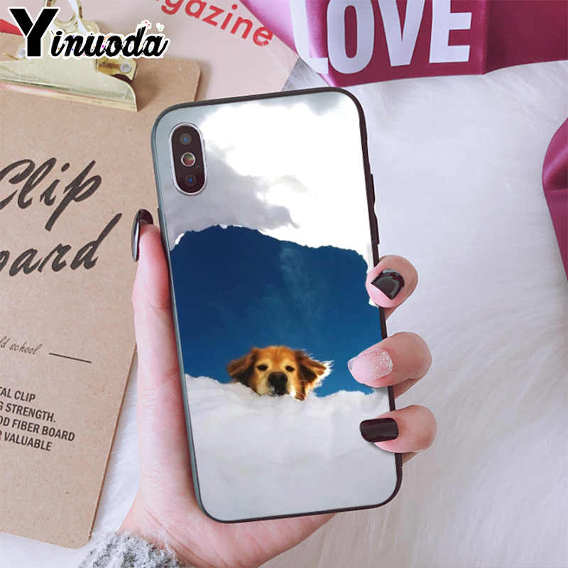 Yinuoda Snowy cute dog YOU&ME series HD transparent phone case for iphone 6 7 8 Plus X XS XSMax 5s