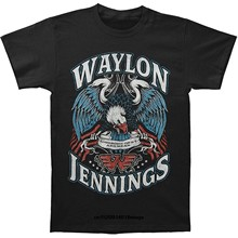 Funny T Shirts Waylon Jennings Men'S Lonesome Short Sleeve T-Shirt Black(China)