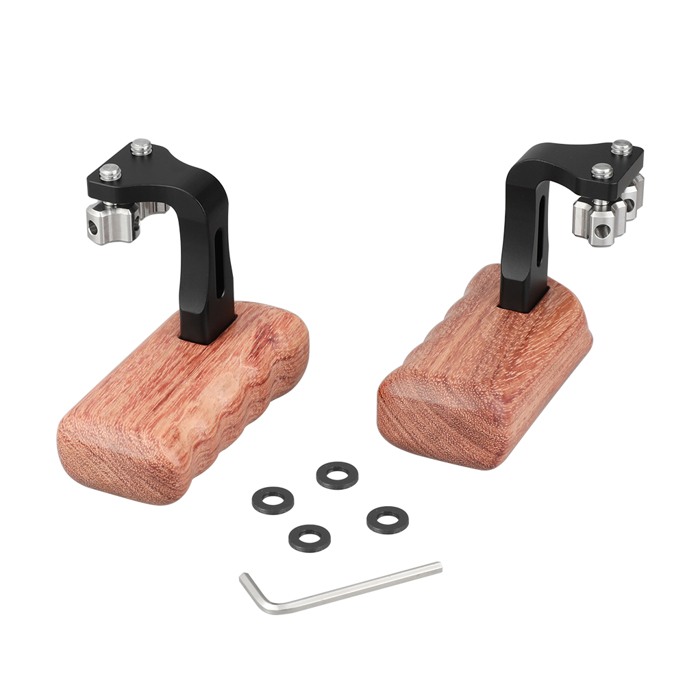 """20 CAMVATE Reversible Wooden Hand Grip Medium Size With 1/4""""-20 Thumbscrew Knob (Left & Right)  C2220 (1)"""