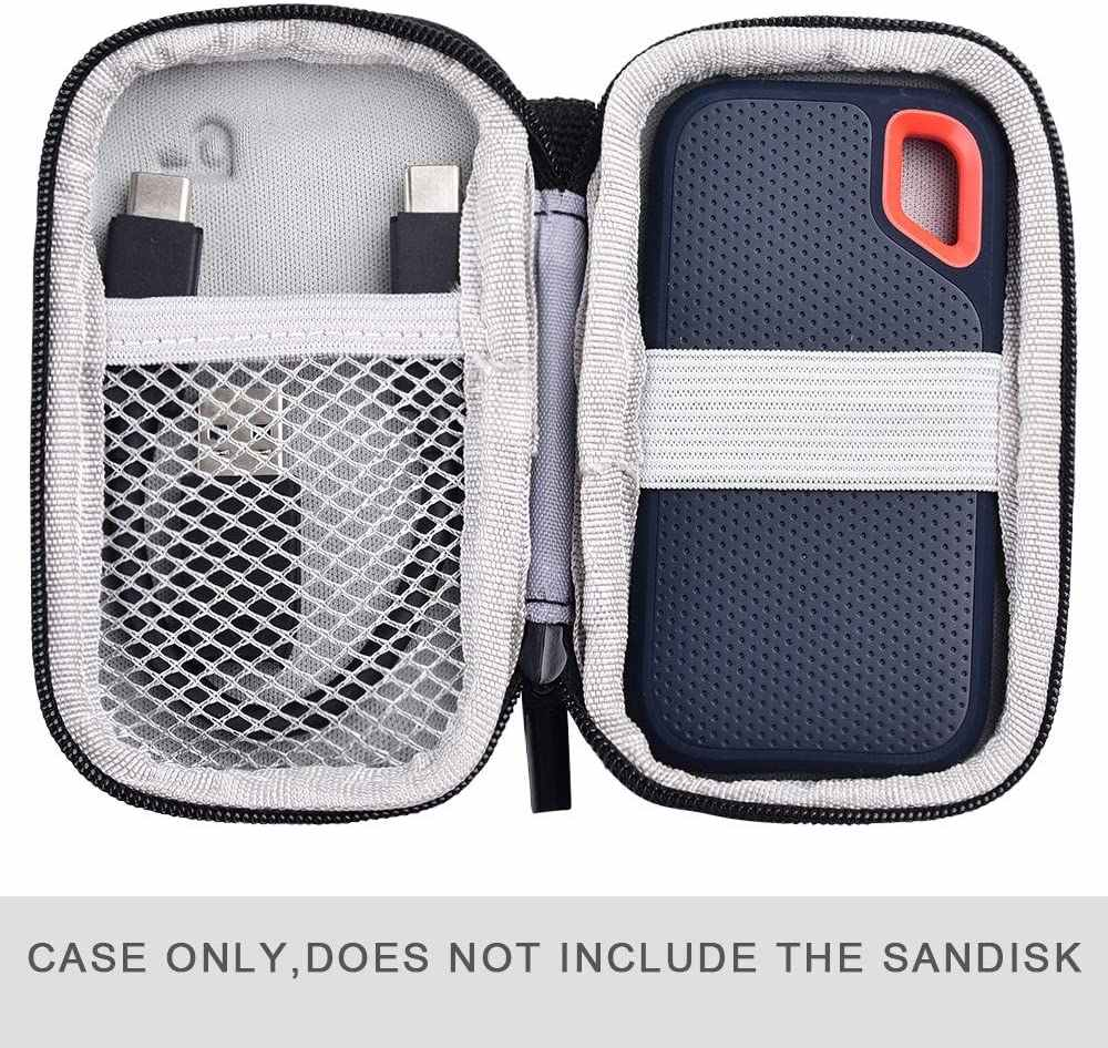Bag Only SDSSDE60-500G-G25 Not for Sandisk Pro Hard Case Compatible with SanDisk 500GB// 250GB// 1TB// 2TB Extreme Portable SSD