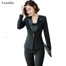 Lenshin New fashion women Pant suits set Business formal lon