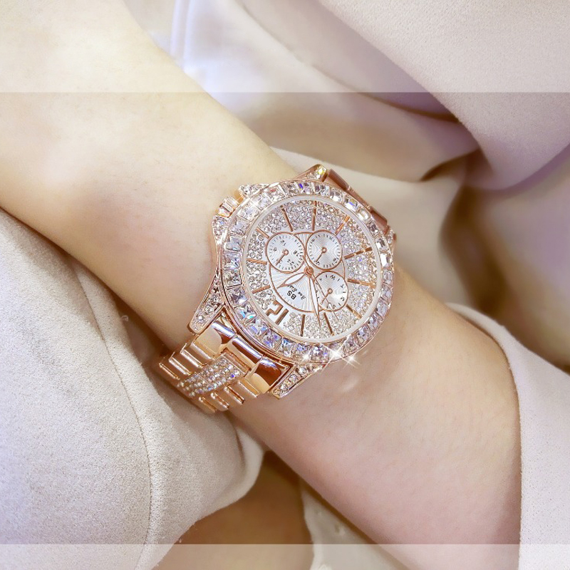 Luxury Brand Diamond Women Watches Fashion Creative Rose Gold Ladies Quartz Watch Women Bracelet Wristwatches Relojes Mujer 2020