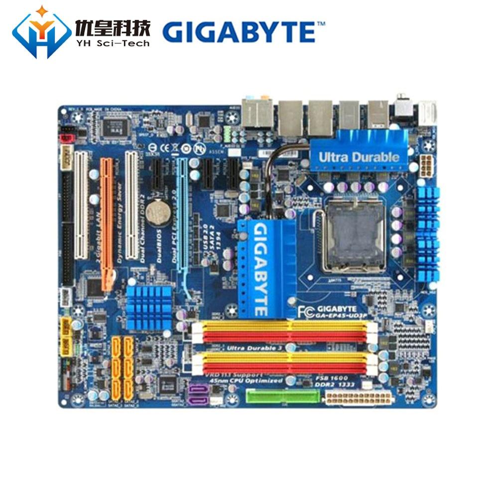 Original Used Desktop Motherboard Gigabyte GA-EP45-UD3P P45 LGA 775 Core 2 Extreme/Core 2 Quad/Core 2 Duo DDR2 ATX