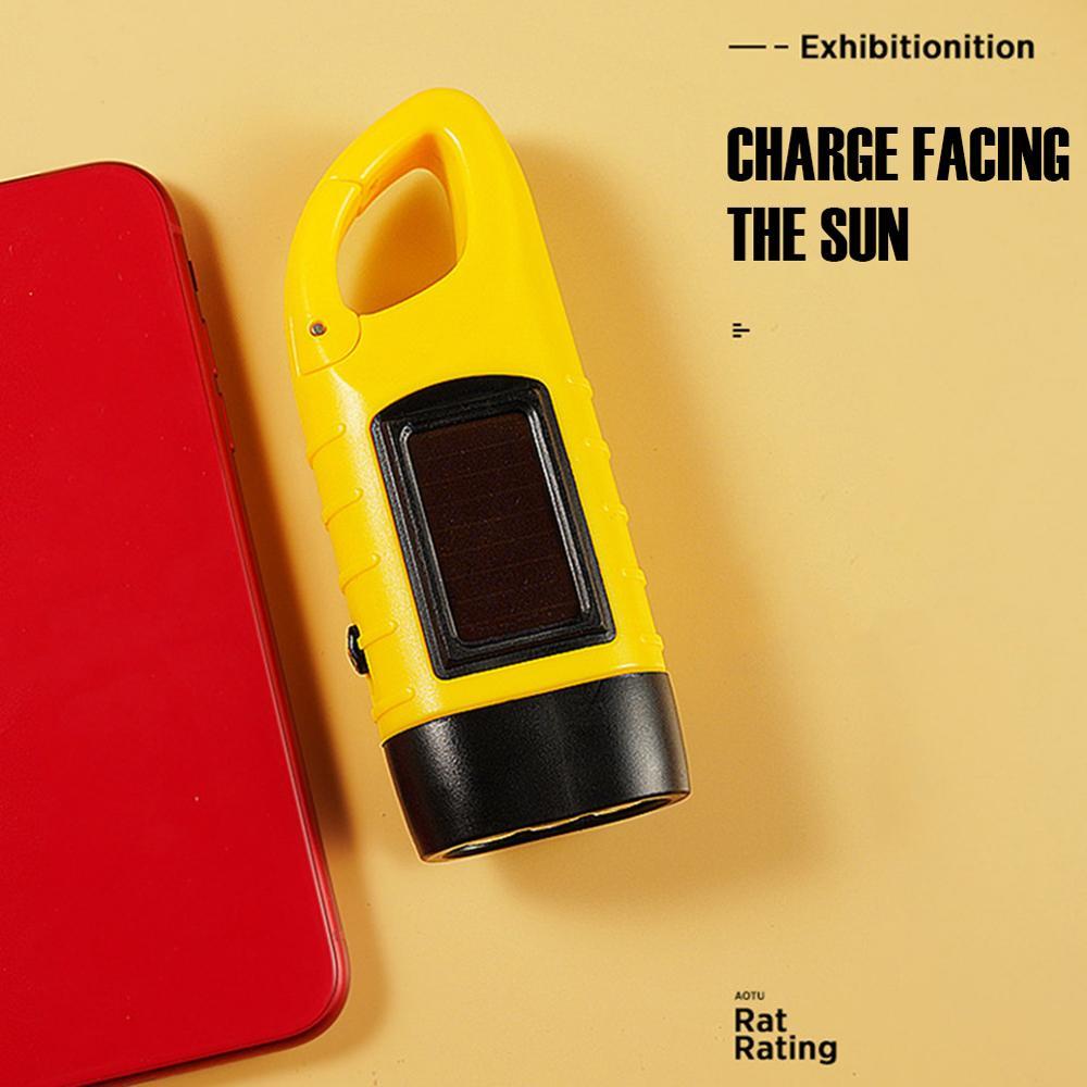 Portable Flashlight Solar color: Black Green Yellow  https://flxicart.com