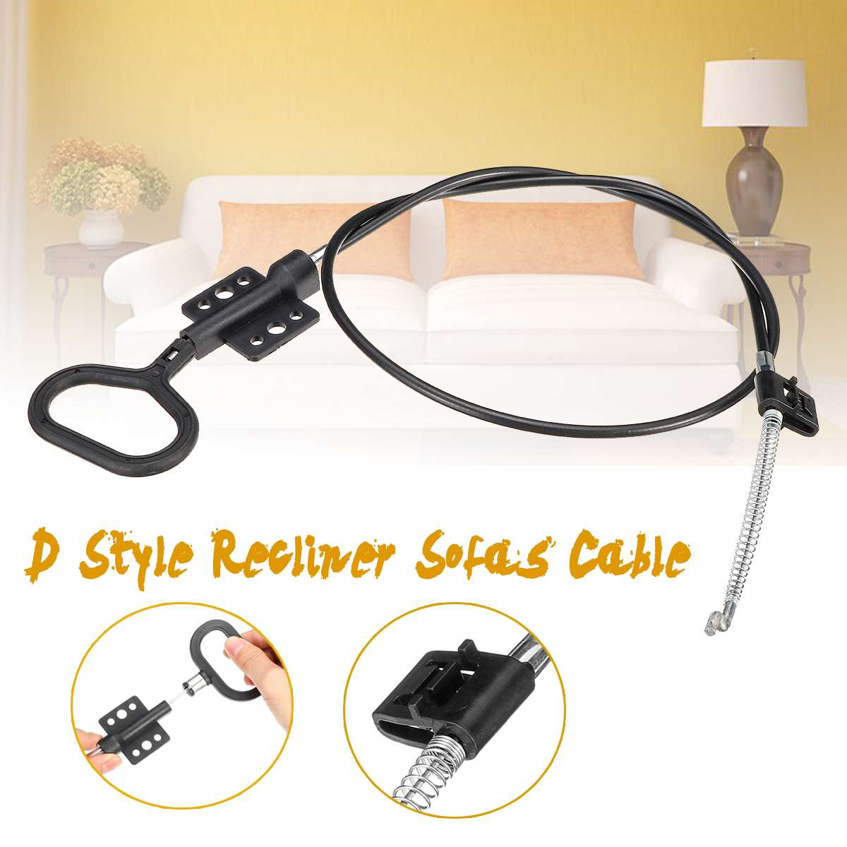 D-Style Recliner Chair Sofa Handle Cable Couch Release Lever Replacement Cable Accessories