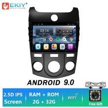 EKIY Android 9.0 Para KIA Cerato forte 2008-2014 Car Radio Multimedia Video Player Stereo Navegação GPS BT Wifi Não 2 Din DVD HU