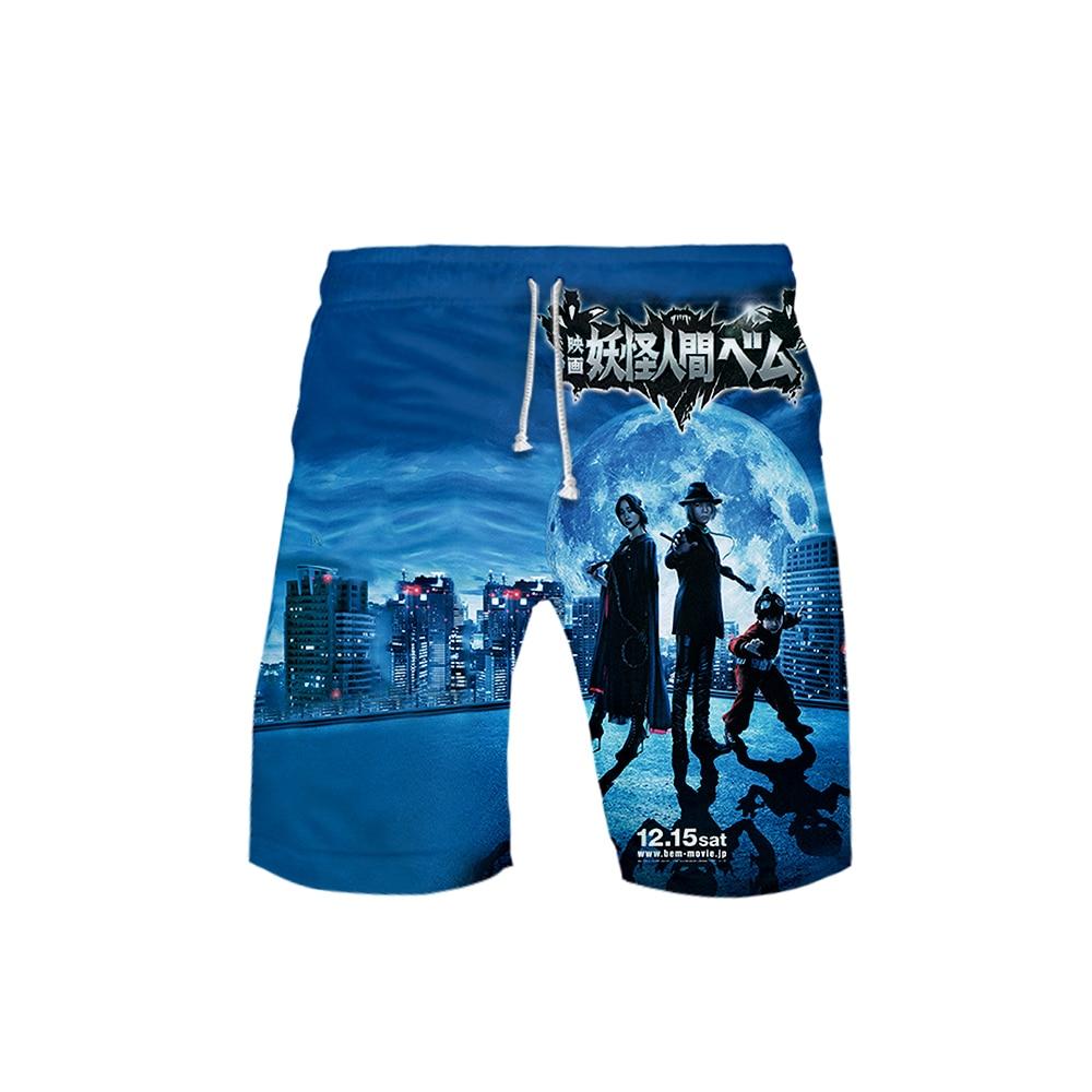 Yokai Ningen Bem The Movie Board Shorts Hawaiian Style POP Beach Shorts 2019 Summer Casual