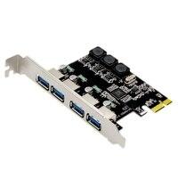 4 منفذ USB 3.0 PCI-E بطاقة التوسع الخارجية USB3.0 PCIe بطاقة لسطح المكتب جهاز كمبيوتر شخصي