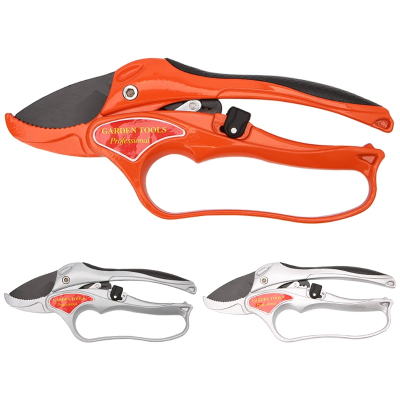 1pc Garden Tool Pruning Shear Scissors Fruit Ratchet Secateurs Cutting Branch Cutter free shipping