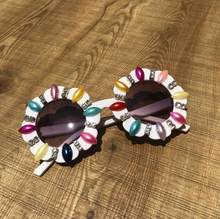 Zaolihu Kids Sunglasses Gorgeous Handmade Crystal Sun Glasses Colorful Round Baby Cute Eyewear UV400 Flower Sahdes