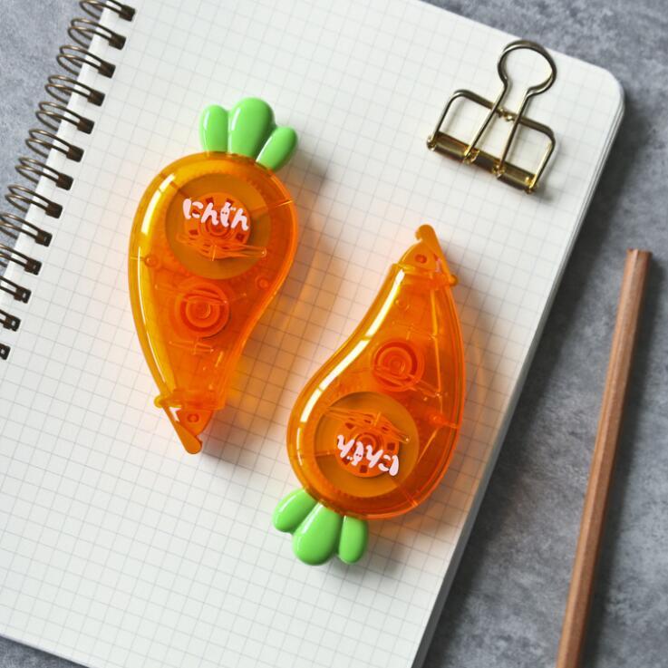 2020 Sharkbang 1PC 12M Long Kawaii Cute Carrot Students Correction Tape Children Birthday Gift School Stationery