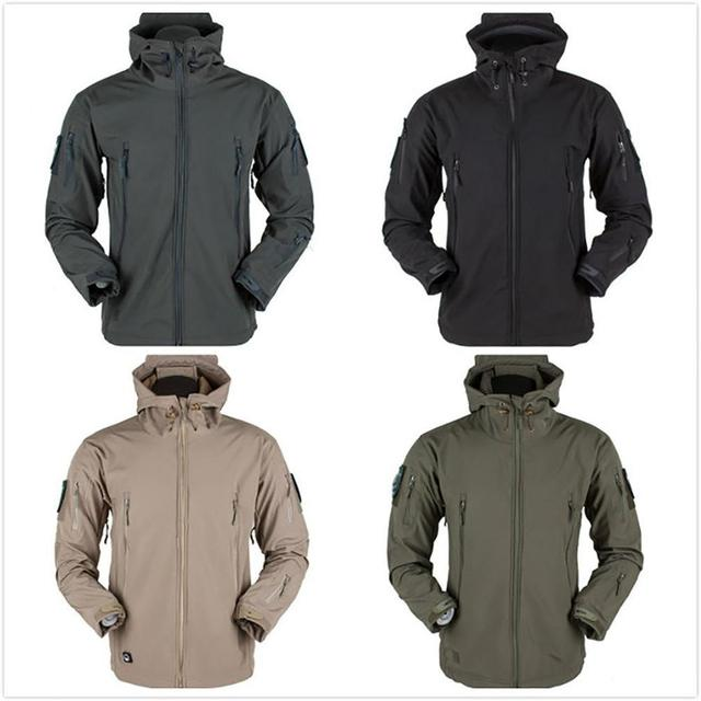 Men's jacket Outdoor Soft Shell Fleece Men's And Women's Windproof Waterproof Breathable And Thermal Three In One Youth Hooded 5