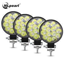 NLpearl LED Work Light Bar 27W 48W Spotlight Led Bar Offroad for Motorcycles For Truck Off road 4X4 ATV Mini Light Bar 12V 24V