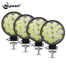 NLpearl LED Work Light Bar 27W 48W Spotlight Led Bar Offroad per motocicli per camion Off road 4X4 ATV Mini Light Bar 12V 24V