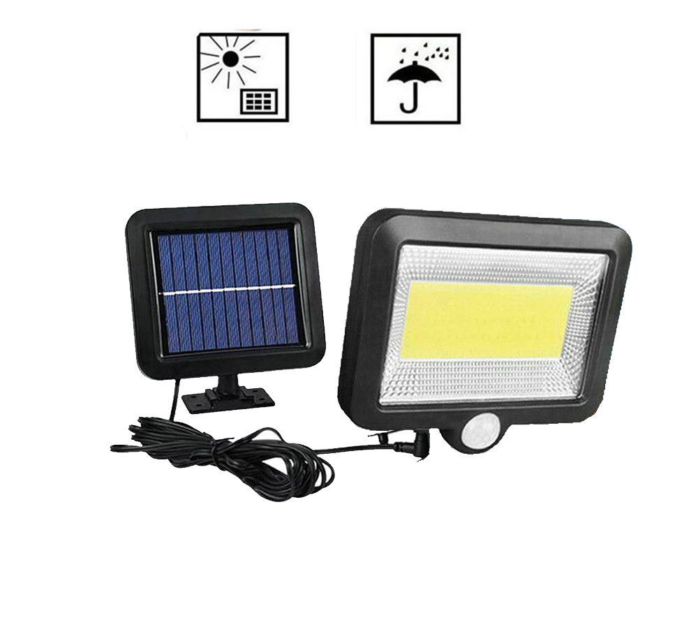 56/30 Outdoor Wall LED Solar Night Light PIR Motion Sensor Auto ON/Off Solar Lamp Porch Path Street Fence Garden Lighting Split