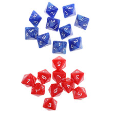 20 pezzi acrilico 8 lati D8 dadi muore per D & D RPG gioco da tavolo favori