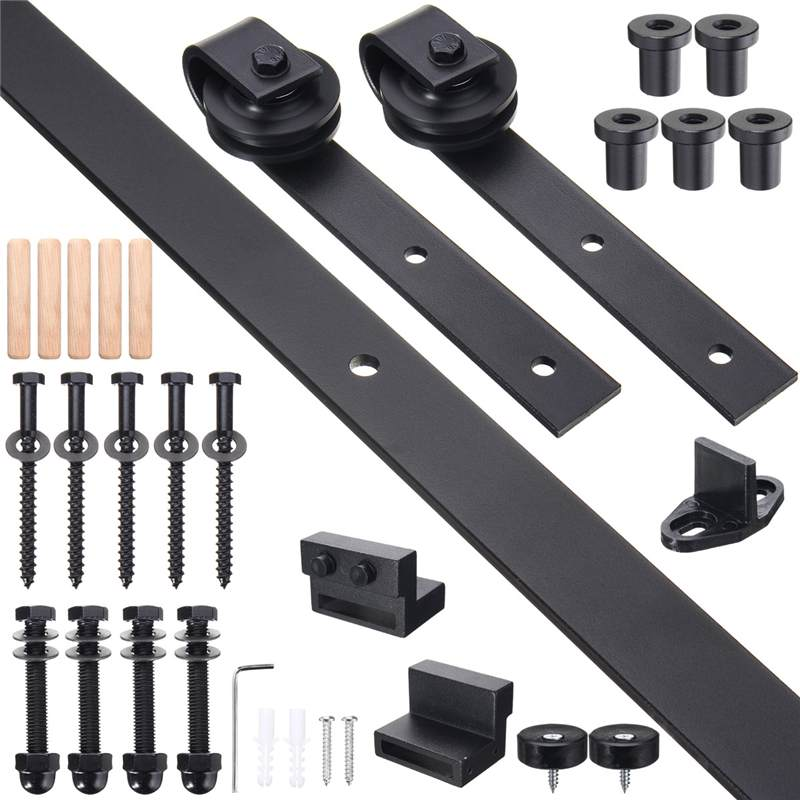 Track Roller Design Sliding Barn Door Track System Door Hardware Wood Barn Hanging Wheel