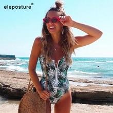 2020 nova sexy zíper de uma peça maiô feminino banho push up monokini bodysuit maiô impressão verão beachwear xl