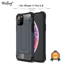 For iPhone 11 Pro Case Shockproof Armor Rubber Silicone Hard PC Phone Bumper Back Cover 5.8