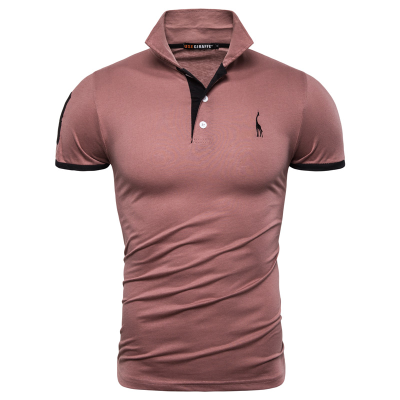 Dropshipping 13 Colors Brand Quality Cotton Polos Men Embroidery Polo Giraffe Shirt Men Casual Patchwork Male Tops Clothing Men 13