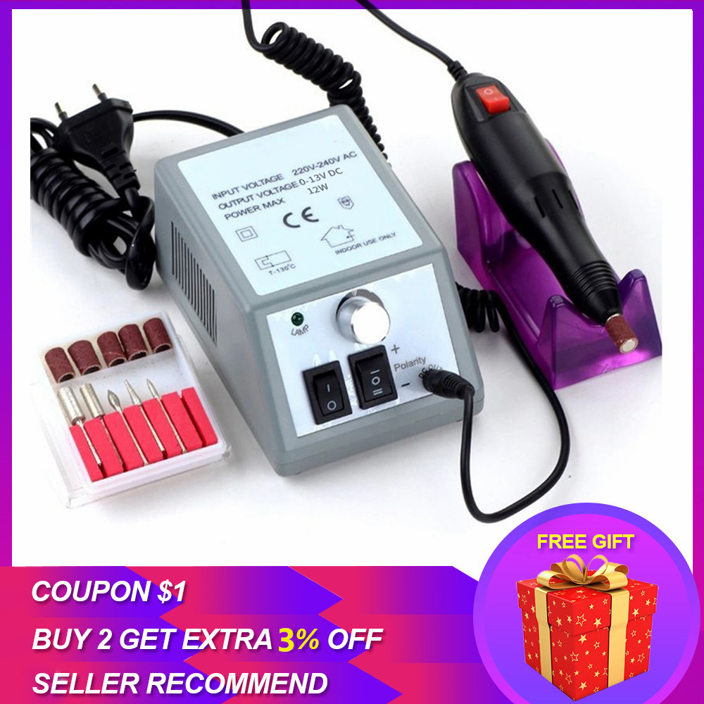 Professional Electric Manicure Set Professional Drill Accessory Nail File Bit Manicure Machine Electric Nail File Ceramic Nail image