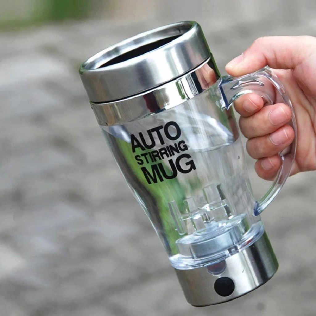 Taza de café tazas magnéticas de acero inoxidable autoagitador cubierta de leche automática tazas de mezcla perezosas eléctricas taza de café inteligente 2019